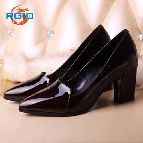 Giày sandal cao gót nữ đẹp gót vuông da bóng hàng hiệu ROSATA - 11120832 , 17407738 , 15_17407738 , 700000 , Giay-sandal-cao-got-nu-dep-got-vuong-da-bong-hang-hieu-ROSATA-15_17407738 , sendo.vn , Giày sandal cao gót nữ đẹp gót vuông da bóng hàng hiệu ROSATA