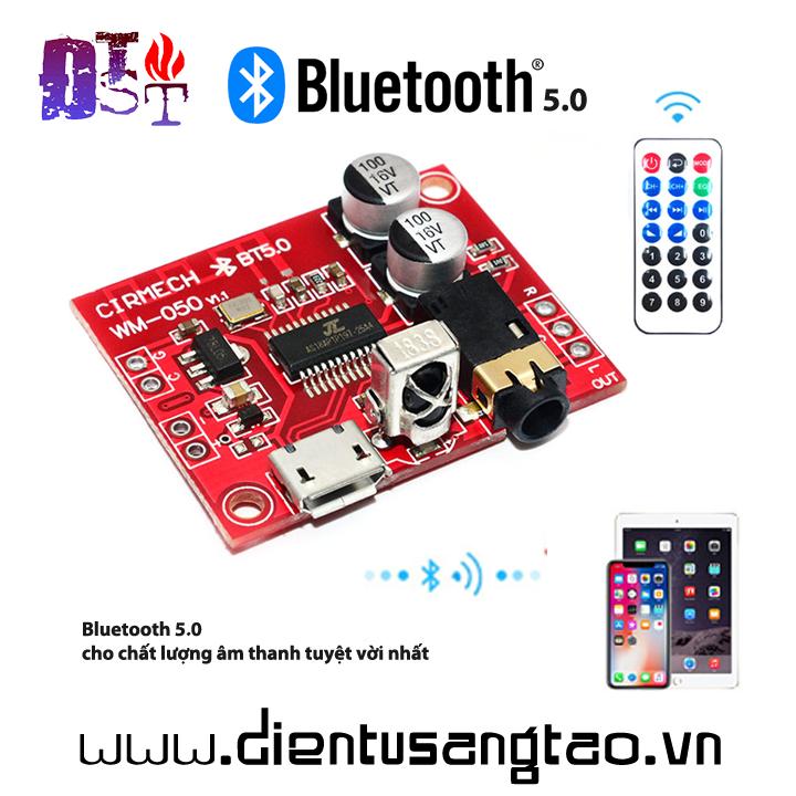 Mạch giải mã âm thanh Bluetooth 5.0 kèm Remote hồng ngoại