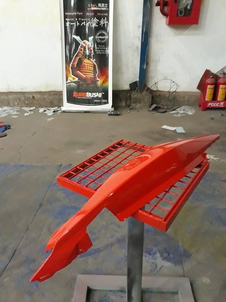 115 _ Sơn xit Samurai 115  màu cam sáng  Light Scarlet  giá rẻ, Tốt , ship nhanh 6