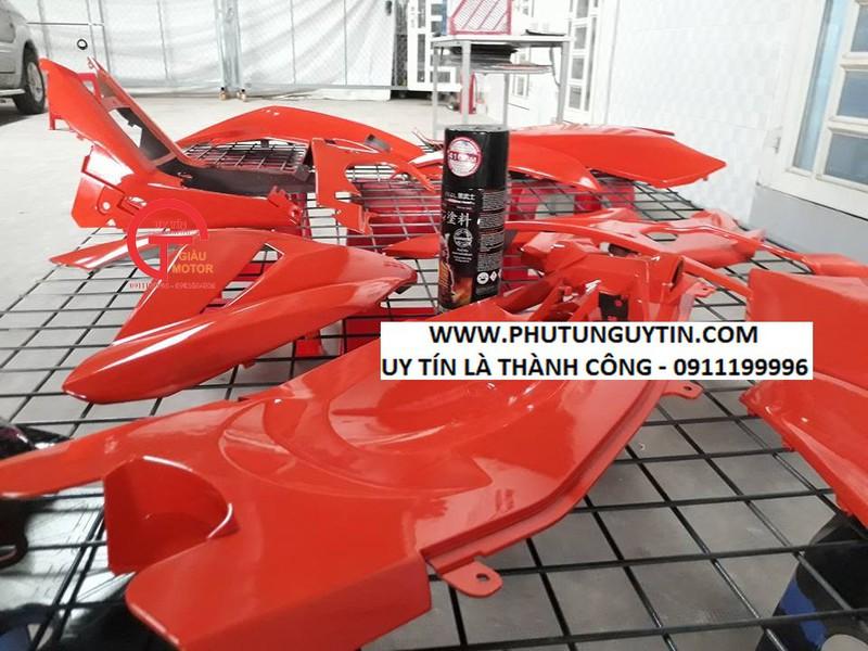115 _ Sơn xit Samurai 115  màu cam sáng  Light Scarlet  giá rẻ, Tốt , ship nhanh 8