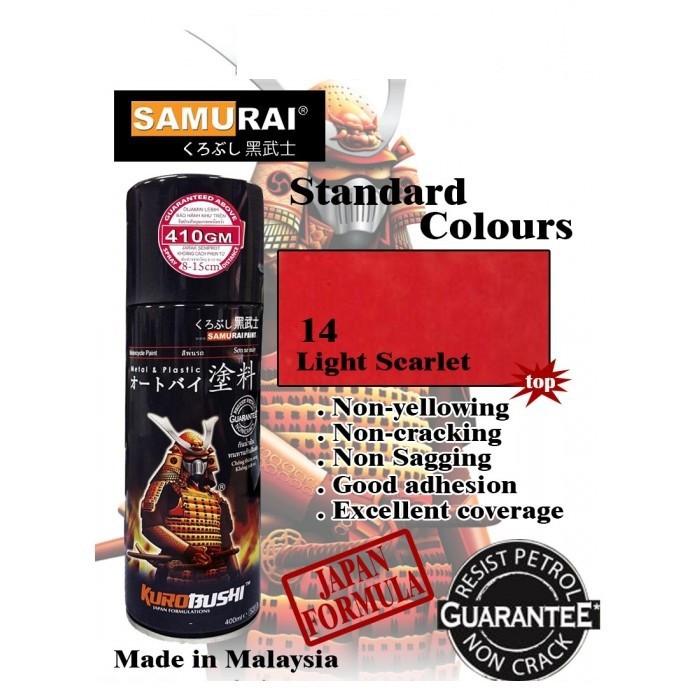 115 _ Sơn xit Samurai 115  màu cam sáng  Light Scarlet  giá rẻ, Tốt , ship nhanh 2