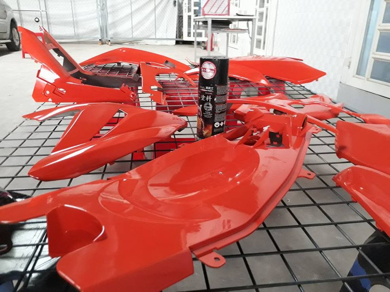 115 _ Sơn xit Samurai 115  màu cam sáng  Light Scarlet  giá rẻ, Tốt , ship nhanh 4