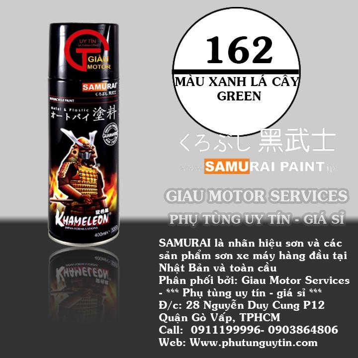 162 _ Sơn xit Samurai 162 màu xanh lá cây _ Green _ Tốt, ship nhanh, giá rẻ 1
