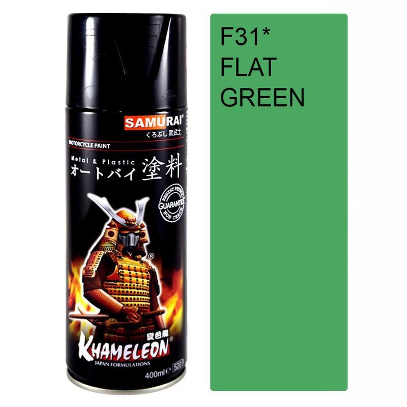 231 _ Chai sơn xịt sơn xe máy Samurai 231 màu xanh lá nhạt _ Leaf Green _ shop uy tín, giao hàng nhanh, giá rẻ 4