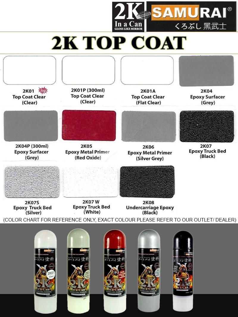 2k01 _ Chai Sơn Xịt Sơn Xe Máy Samurai 2K01 sơn bóng trong suốt 2 thành phần _ Clear Top Coat _ shop uy tín, giao nhanh 4