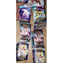 Set 96 thẻ bài Pokemon bằng giấy bóng cứng óng ánh rất đẹp