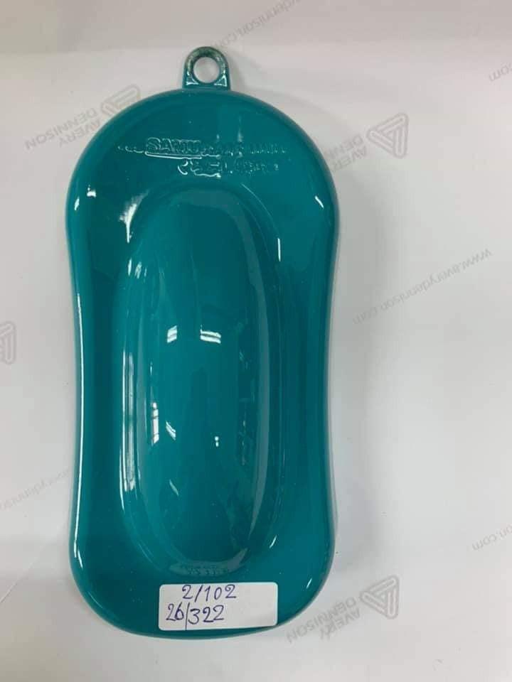 322 _ Chai sơn xịt sơn xe máy Samurai 322 màu xanh tosca _ Tosca Green _ Tốt, ship nhanh, giá rẻ 2