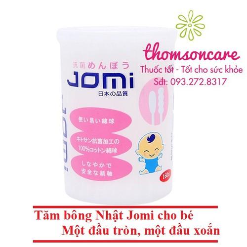 Bông tăm cho bé Jomi từ Nhật Bản một đầu tròn một đầu xoắn 160 chiếc