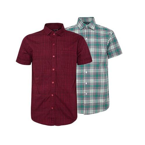 Combo 2 áo sơ mi nam sọc caro phong cách mới SMC177