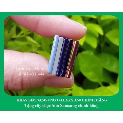 KHAY SIM SAMSUNG GALAXY A50 2019 CHÍNH HÃNG + Cây chọc Sim chính hãng Samsung