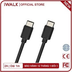 Cáp Sạc USB Type-C Ra USB Type-C 2.1A iWALK Scorpion Edge CST021CC