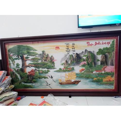 Tranh thêu chữ thập Phong cảnh189-90cm