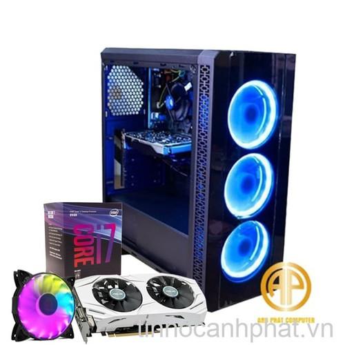 Máy tính chơi game Intel i7 8700 Ram 8GB Hdd 250GB Ssd 120GB Vga RX 480 4GB