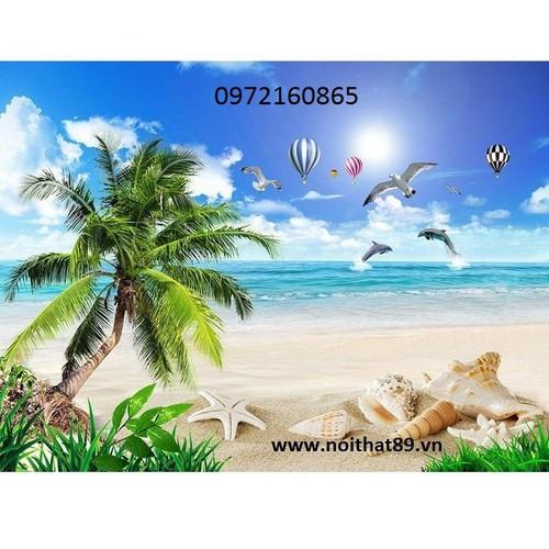 gạch tranh 3d bãi biển