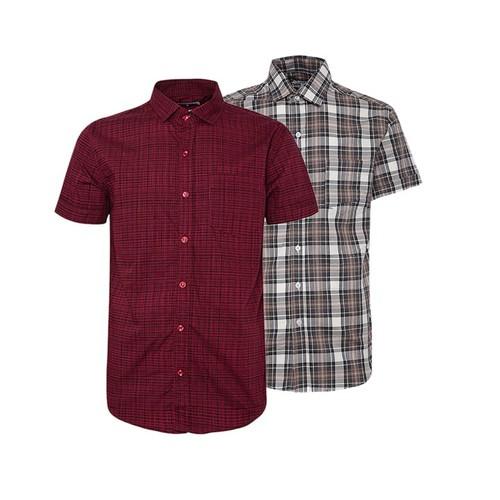 Combo 2 áo sơ mi nam sọc caro phong cách mới SMC176