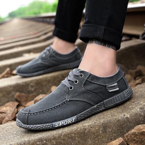 Giày lười, giày vải nam buộc dây