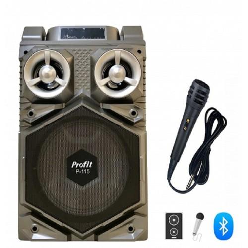 Loa karaoke bluetooth mini giá rẻ P-115 led, nghe nhạc hát karaoke hay + Tặng mic