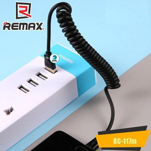 Cáp lightning lò xo xoắn Remax RC-117m