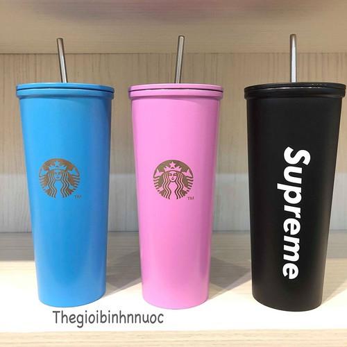 Ly Giữ Nhiệt Starbucks 473ML Kèm Ống Hút B340