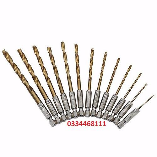 Bộ mũi khoan sắt 13 món-Bộ mũi khoan sắt 13 món- FKXZ1701