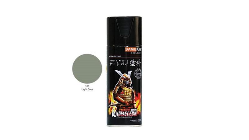 106 _ Sơn xit Samurai 106 màu xám sáng _ Light Grey _ Tốt, giá rẻ, ship nhanh 8