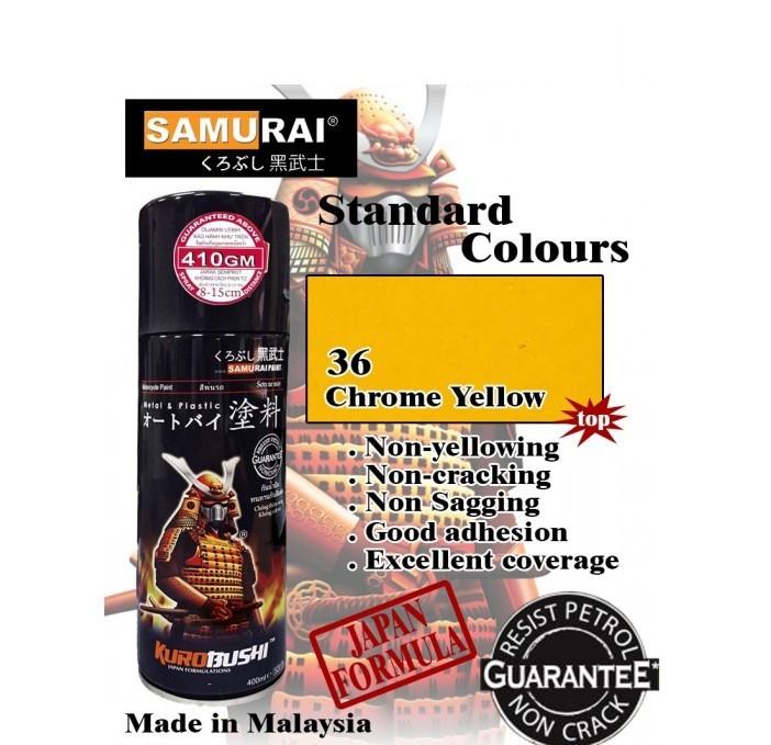 108 _ Chai sơn xịt sơn xe máy Samurai 108 màu vàng crome shop uy tín, giao nhanh, giá rẻ 2