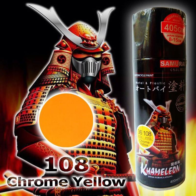 108 _ Chai sơn xịt sơn xe máy Samurai 108 màu vàng crome shop uy tín, giao nhanh, giá rẻ 6
