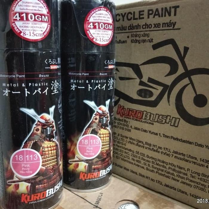 113 _ Chai sơn xịt sơn xe máy Samurai 113 màu hồng _  Pink , shop uy tín, giao nhanh, giá rẻ 2