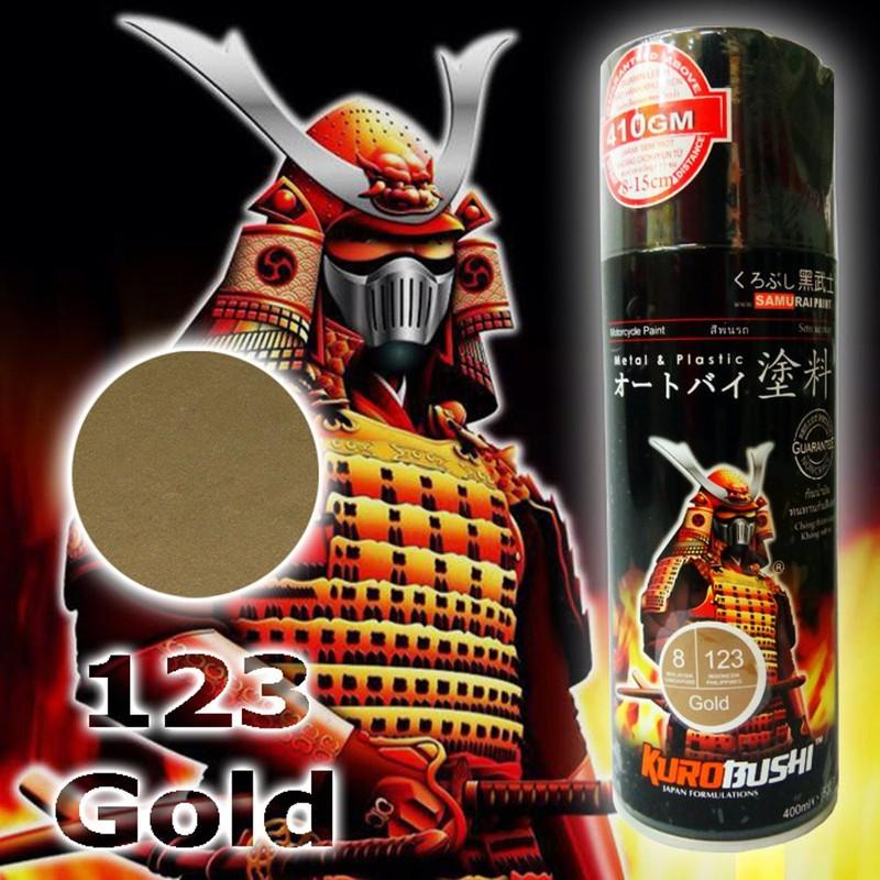 123 _ Chai sơn xịt sơn xe máy Samurai 123 màu vàng ánh kim 7