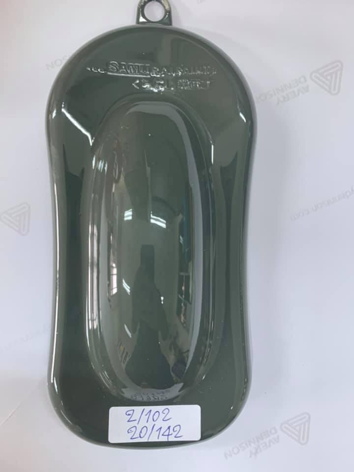 142 _ Chai sơn xịt sơn xe máy Samurai 142 màu xanh quân đội _ Army Green shop uy tín, giao nhanh, giá rẻ 2