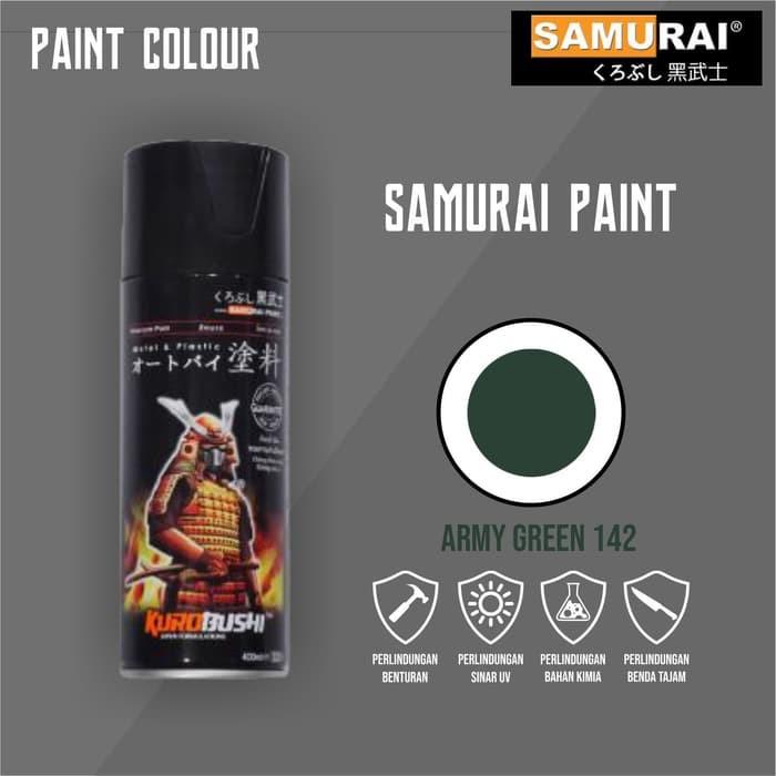 142 _ Chai sơn xịt sơn xe máy Samurai 142 màu xanh quân đội _ Army Green shop uy tín, giao nhanh, giá rẻ 9