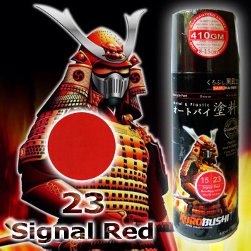 23 _ Chai sơn xịt sơn xe máy Samurai 23 màu đỏ nổi bật _ 23 Red Samurai _ shop uy tín, giao hàng nhanh 2