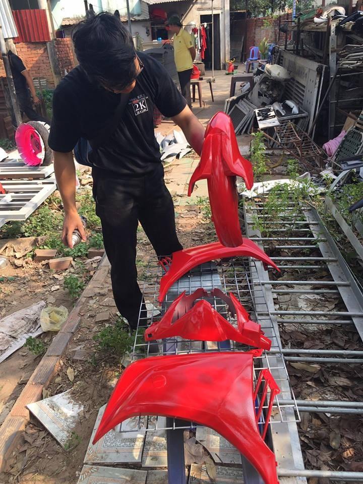 23 _ Chai sơn xịt sơn xe máy Samurai 23 màu đỏ nổi bật _ 23 Red Samurai _ shop uy tín, giao hàng nhanh 7