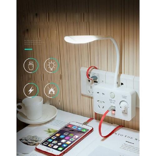 Ổ Điện Kiêm Đèn Ngủ Tích Hợp Ổ Cắm USB