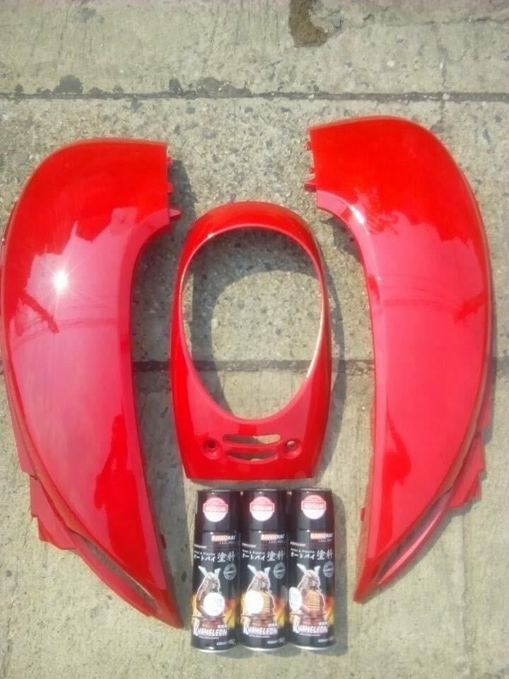 6 _ Chai sơn xịt sơn xe máy Samurai 6 màu đỏ _ Red _ shop uy tín, giao hàng nhanh 4