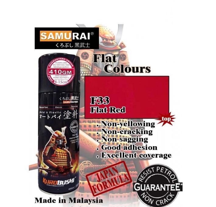 6 _ Chai sơn xịt sơn xe máy Samurai 6 màu đỏ _ Red _ shop uy tín, giao hàng nhanh 2