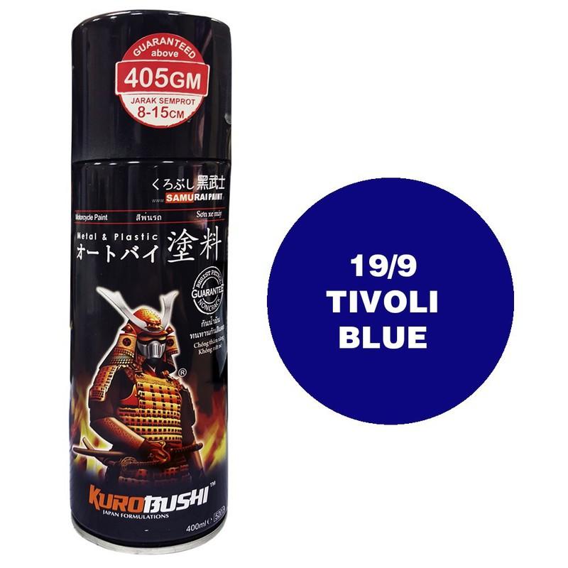 9 _ Sơn xit Samurai 9 màu xanh trivoli _ Trivoli Blue Tốt, ship nhanh, giá rẻ 3
