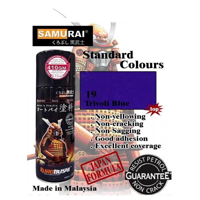 9 _ Sơn xit Samurai 9 màu xanh trivoli _ Trivoli Blue Tốt, ship nhanh, giá rẻ 2