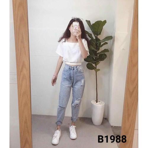 quần baggy jeans nữ - 4682599 , 17439535 , 15_17439535 , 210000 , quan-baggy-jeans-nu-15_17439535 , sendo.vn , quần baggy jeans nữ
