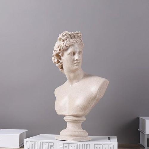 Tượng nam thần Ánh sáng Apollo xám 32cm