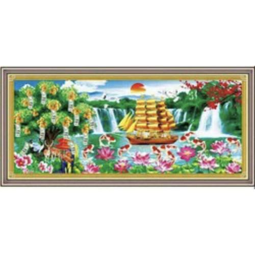 Tranh đính đá Thuận Buồm Xuôi Gió Phong Cảnh DF220