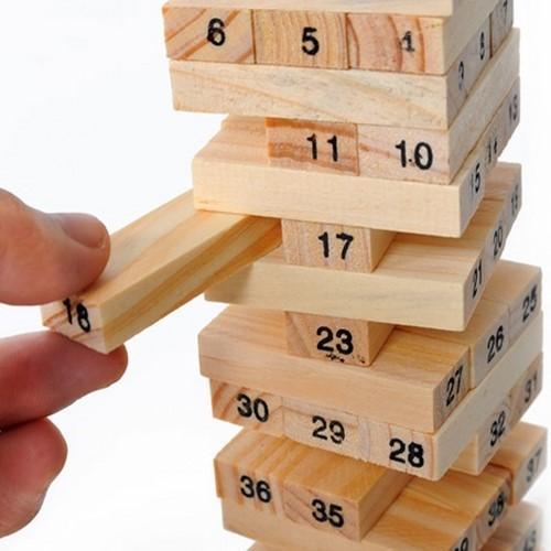 Bộ đồ chơi rút gỗ Wiss Toy 54 thanh cho bé 5 cm x 5cm x 16.5cm