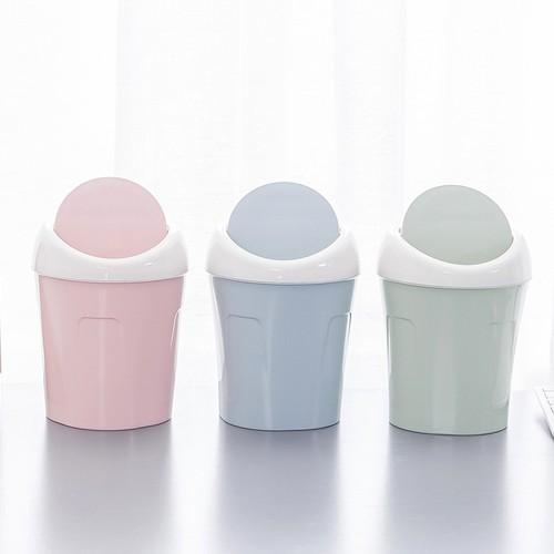 [SALE] Thùng rác mini pastel để bàn xinh xắn - Hồng phấn