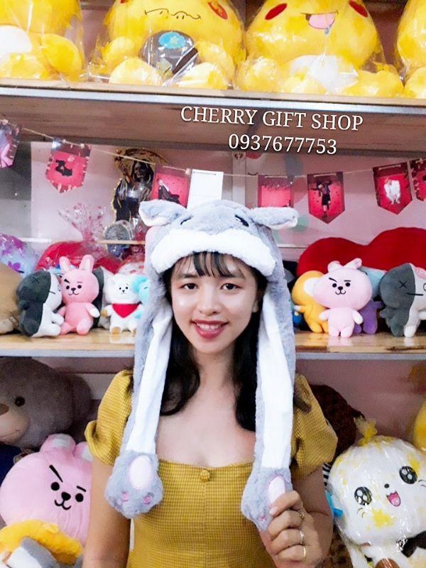 Nón Tai Thỏ- Chuột Hamster Cử Động Cực Dễ Thương 6