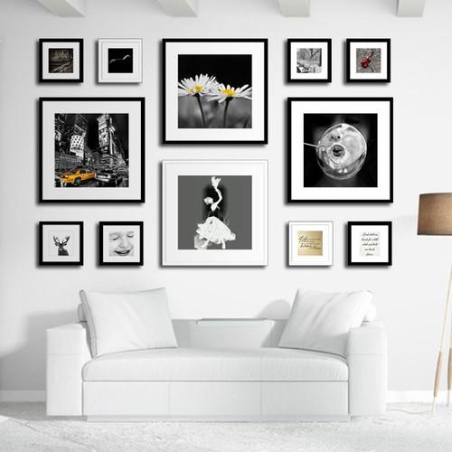 [COMBO 12] Khung tranh treo tường trang trí - TRẮNG