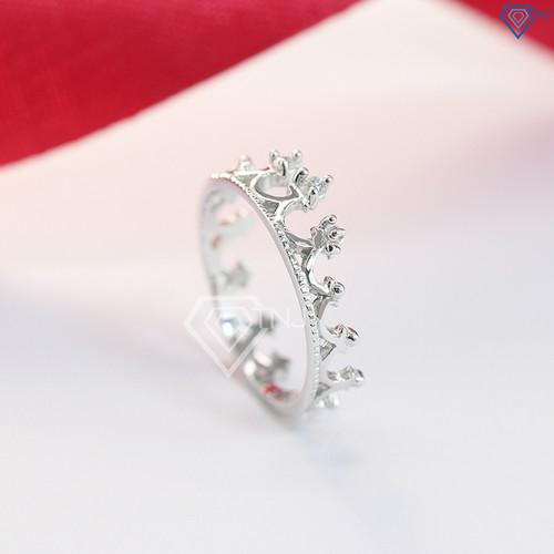 Nhẫn bạc nữ đẹp, nhẫn bạc nữ hình vương miện đính đá đẹp NN0214 - Trang Sức TNJ