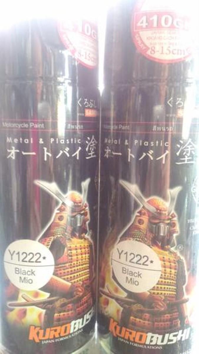 Y1222_ Chai sơn xịt  Samurai Y1222 - màu mio đen - Black Mio   Yamaha shop uy tín, giao hàng nhanh, giá rẻ 3