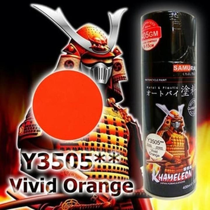 Y3505_ Chai sơn xịt  Samurai Y3505 màu cam rực   Vivid Orange  Yamaha shop uy tín, giao hàng nhanh, giá rẻ 8