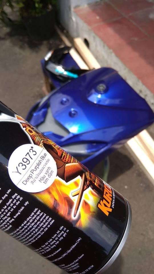 Y3973 _ Chai sơn xịt  Samurai Y3973 màu xanh tím đậm   Yamaha shop uy tín, giao hàng nhanh, giá rẻ 9