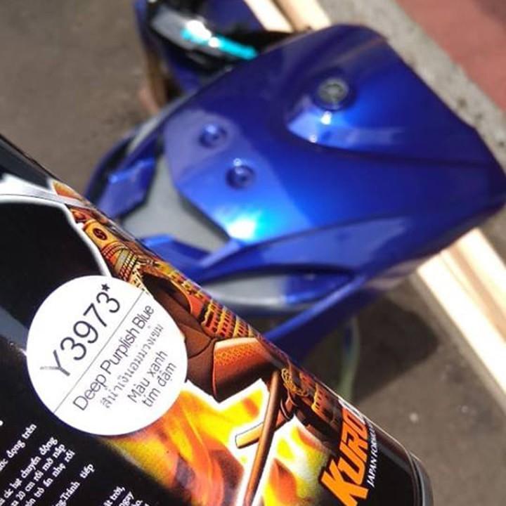 Y3973 _ Chai sơn xịt  Samurai Y3973 màu xanh tím đậm   Yamaha shop uy tín, giao hàng nhanh, giá rẻ 10